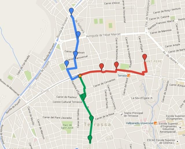 Mapa Bus a Peu